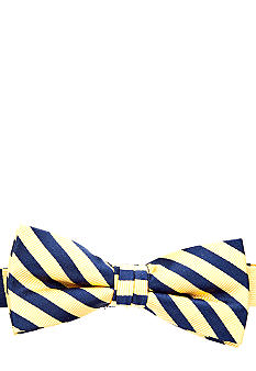 J Khaki Yellow Stripe Bowtie