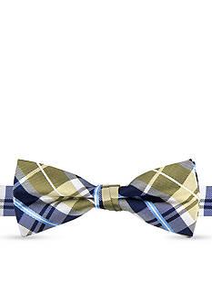 J Khaki™ Windowpane Plaid Bow Tie Boys 4-20