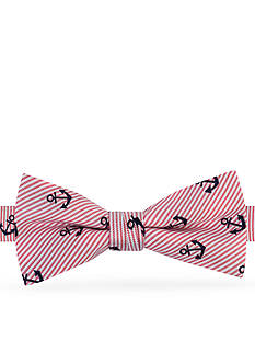 J Khaki™ Stripe Anchor Print Bow Tie