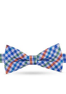 J Khaki™ Micro Multi Plaid Pre-Tied Bow Tie Boys 4-20