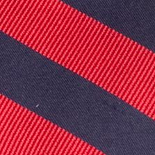 Boys Ties: Red J Khaki™ Stripe Zip Tie Boys 2-7