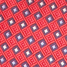 Toddler Ties: Red J Khaki™ Patterned Zip Tie Boys 2-7