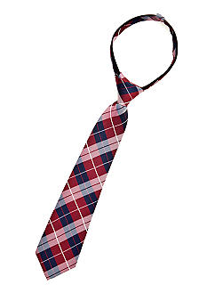 J Khaki Red Plaid Zip Tie Boys 2-7