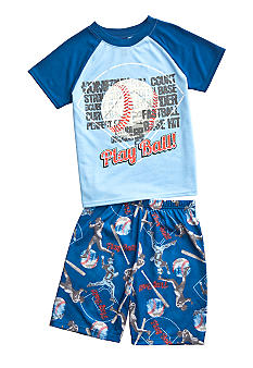 J Khaki 2-Piece Baseball Pajama Set Boys 4-20