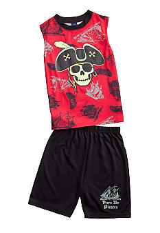 J Khaki 2-Piece Pirate Pajama Set Boys 4-20