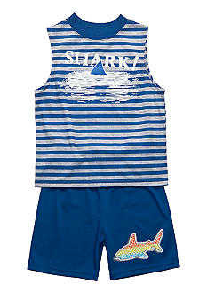 J Khaki 2-Piece Shark Pajama Set Boys 4-20