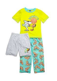 J Khaki™ 3-Piece 'Benny's Surf Shack' Pajama Set Boys 4-20