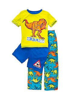 J Khaki™ 3-Piece Hungry Dino Pajama Set Boys 4-20