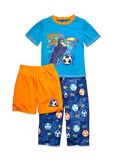 J Khaki™ 3-Piece Toucan Game Pajama Set Boys 4-20