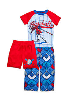 J Khaki™ 3-Piece Baseball Pajama Set Boys 4-20