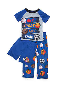 J Khaki™ 3-Piece 'Any Sport Any Time' Pajama Set Boys 4-10