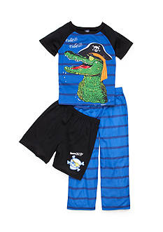 J Khaki™ 3-Piece Pirate Alligator Pajama Set Boys 4-10