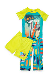 J Khaki™ 3-Piece 'Wave Surfer' Pajama Set Boys 4-10
