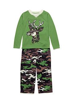 J. Khaki 2-Piece Deer Camo Pajama Set Boys 4-20