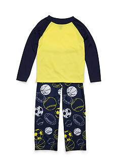 J. Khaki 2-Piece Multi-Sport Pajama Set Boys 4-20