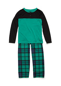 J. Khaki 2-Piece Plaid Pajama Set Boys 4-20