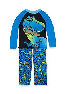 J. Khaki 2-Piece Dinosaur Pajama Set Boys 4-20