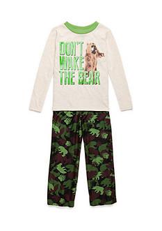 J. Khaki Don't Wake The Bear 2-Piece Pajama Set Boy 4-20