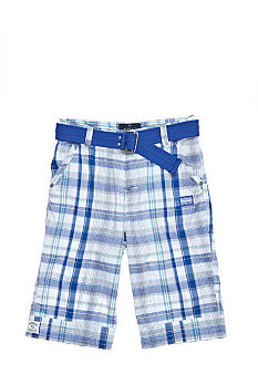 Buffalo David Bitton Herbort Plaid Short Boys 8-20