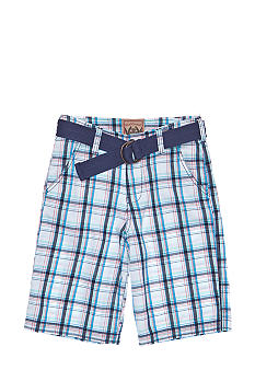Red Camel Boys® Plaid Short with Belt Boys 8-20
