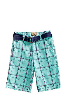 Red Camel Boys Plaid Short with Belt Boys 8-20