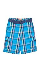 Red Camel Boys® Plaid Cargo Short with Belt Boys 8-20