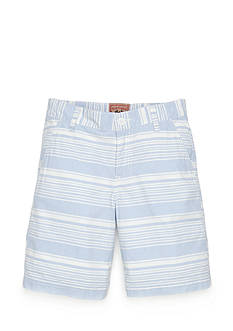 Red Camel Flat Front Stripe Shorts Boys 8-20