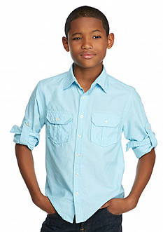 Red Camel Solid Woven Oxford Shirt Boys 8-20