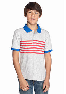Red Camel Chest Stripe Polo Boys 8-20