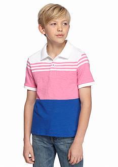 Red Camel Color Block Polo Shirt Boys 8-20