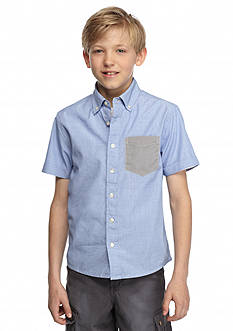 Red Camel Solid Woven Filafil Shirt Boys 8-20