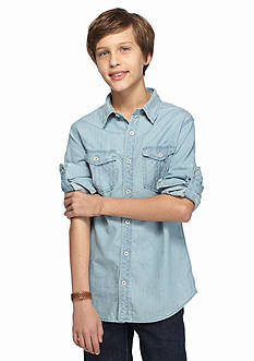 Red Camel Chambray Shirt Boys 8-20