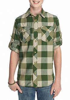 Red Camel Check Woven Shirt Boys 8-20
