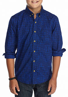 Red Camel Printed Woven Shirt Boys 8-20