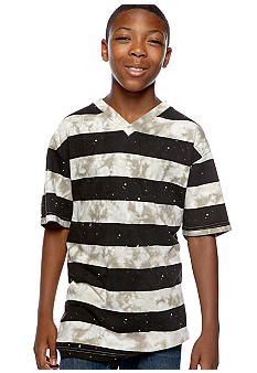 Red Camel Boys Boys 8-20 Stripe Ink Wash Tee