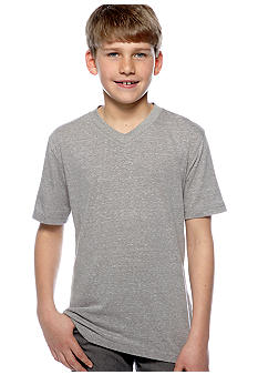 Red Camel Boys Tri Blend Solid V-Neck Tee Boys 8-20
