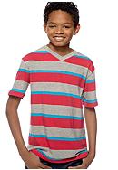 Red Camel Boys® Rugby Tone Stripe Tee Boys 8-20