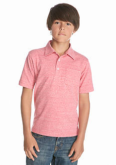 Red Camel Short Sleeve Solid Nep Polo Boys 8-20