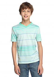 Red Camel Short Sleeve Stripe V-Neck Tee Boys 8-20