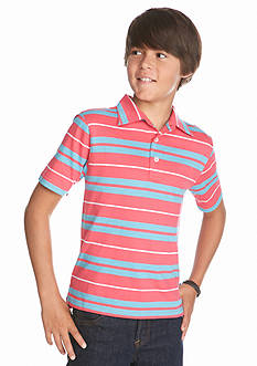 Red Camel Short Sleeve Striped Polo Boys 8-20