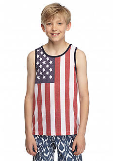 Red Camel American Flag Tank Top Boys 8-20