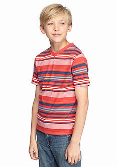 Red Camel Striped V-Neck Tee Boys 8-20