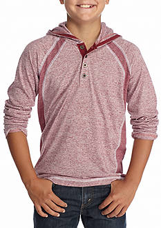 Red Camel Henley Hoodie Boys 8-20