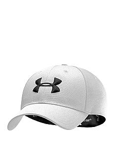 Under Armour White Blitzing Stretch Fit Cap Boys 8-20