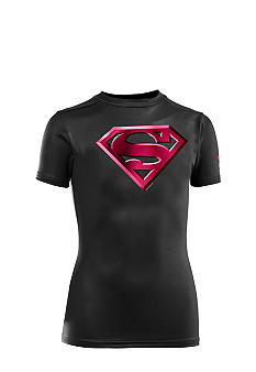 Under Armour Superman Logo Alter Ego Compression Tee Boys