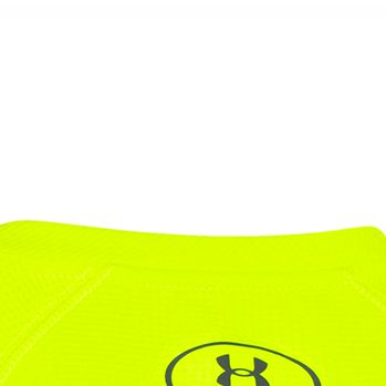 Boys 8-20 Size Activewear: Yigh-Vis Yellow/Graphite Under Armour Long Sleeve Waffle Thermal Tee Boys 8-20