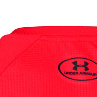 Boys Shirts Sale: Risk Red/Black Under Armour Long Sleeve Waffle Thermal Tee Boys 8-20
