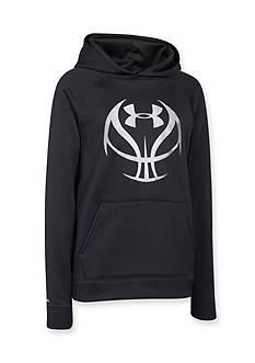 Under Armour Fleece Basketball Logo Hoodie Boys 8-20