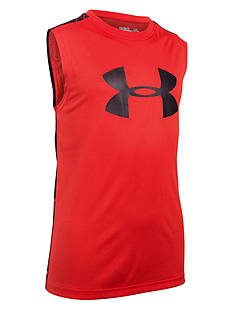 Under Armour Big Logo Print Muscle Tee Boys 8-20