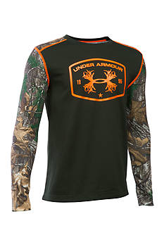 Under Armour Camo Thermal Crew Tee Boys 8-20